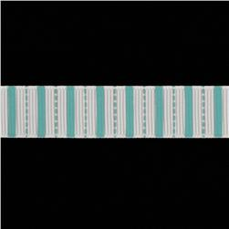 Riley Blake 5/8'' Grosgrain Stripes Ribbon Teal