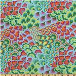 Amy Butler Soul Blossoms Rayon Challis Peacock Sea Grass