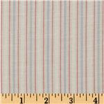 0287625 Cotton Voile Stripes Red/Natural
