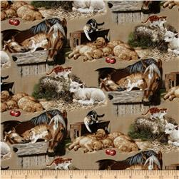 Animal Love Barnyard Nursery Tan/Multi