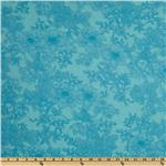 FR-695 108'' Wide Tonal Bouquet Quilt Backing Aqua