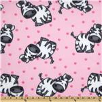 FM-082 Wonderama Zebra Fleece Pink
