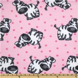 Wonderama Zebra Fleece Pink