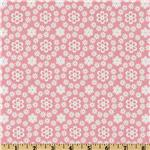 DK-300 Cozy Cotton Flannel Daises All Over Pink