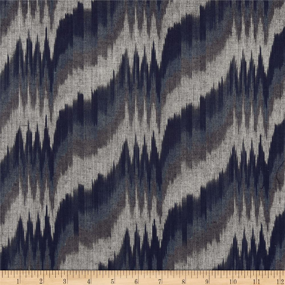 Seminole Yarn Dye Tipped Arrowhead Ikat Blue/Indigo