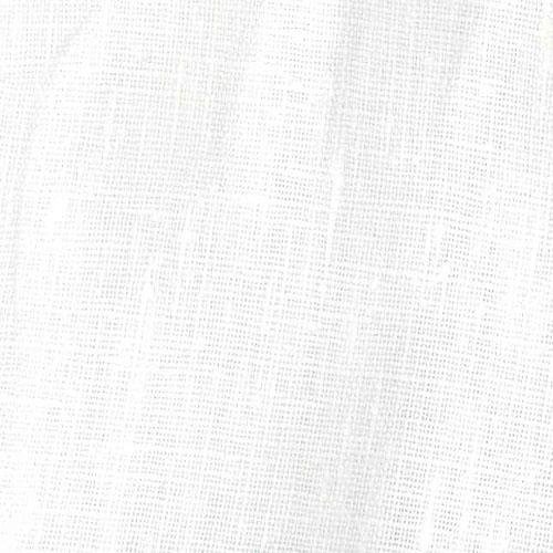 European Linen Fabric White