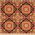 0270056 Istanbul Metallic Medallion Red
