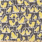 CT-467 Michael Miller Citron Gray Bird Swing Gray
