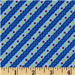 213686 Cute As A Bug Diagonal Stripe Blue