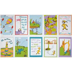 Oh The Places You'll Go! Rainbow Panel Multi