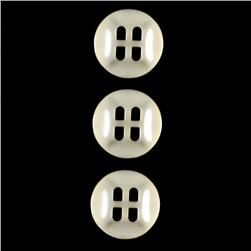 Fashion Button 3/4'' Gordes Cream