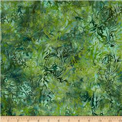 Bali Batiks Leaf Scroll Cypress