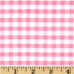 Riley Blake Medium Gingham Flannel Baby Pink
