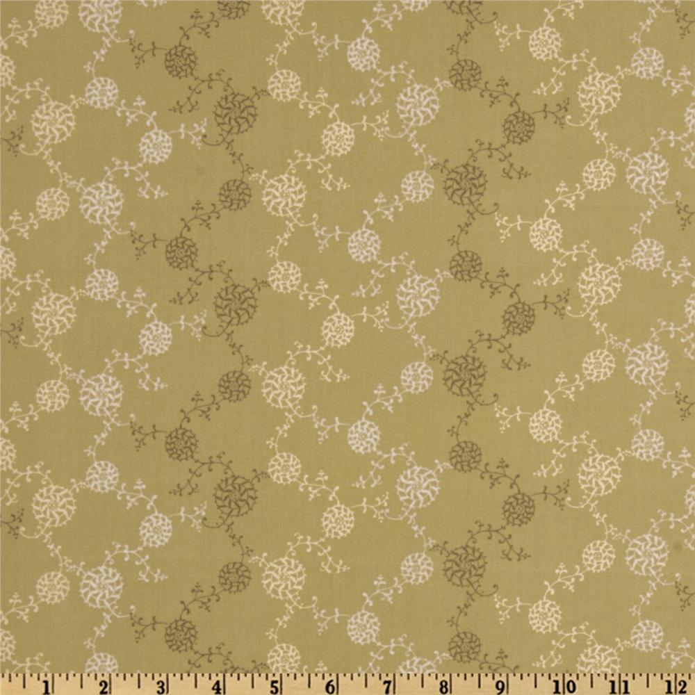 Dashing Roses Collection Circles Khaki