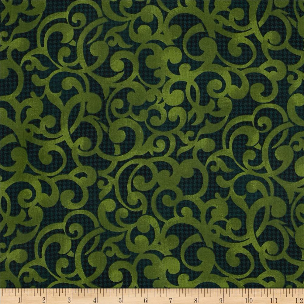 "Filigree 108"" Wide Quilt Backing Green"