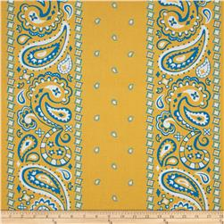 Cuteville Country Fair Bandana Border Yellow