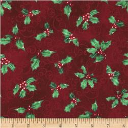 Chickadee Holiday Holly Toss Red