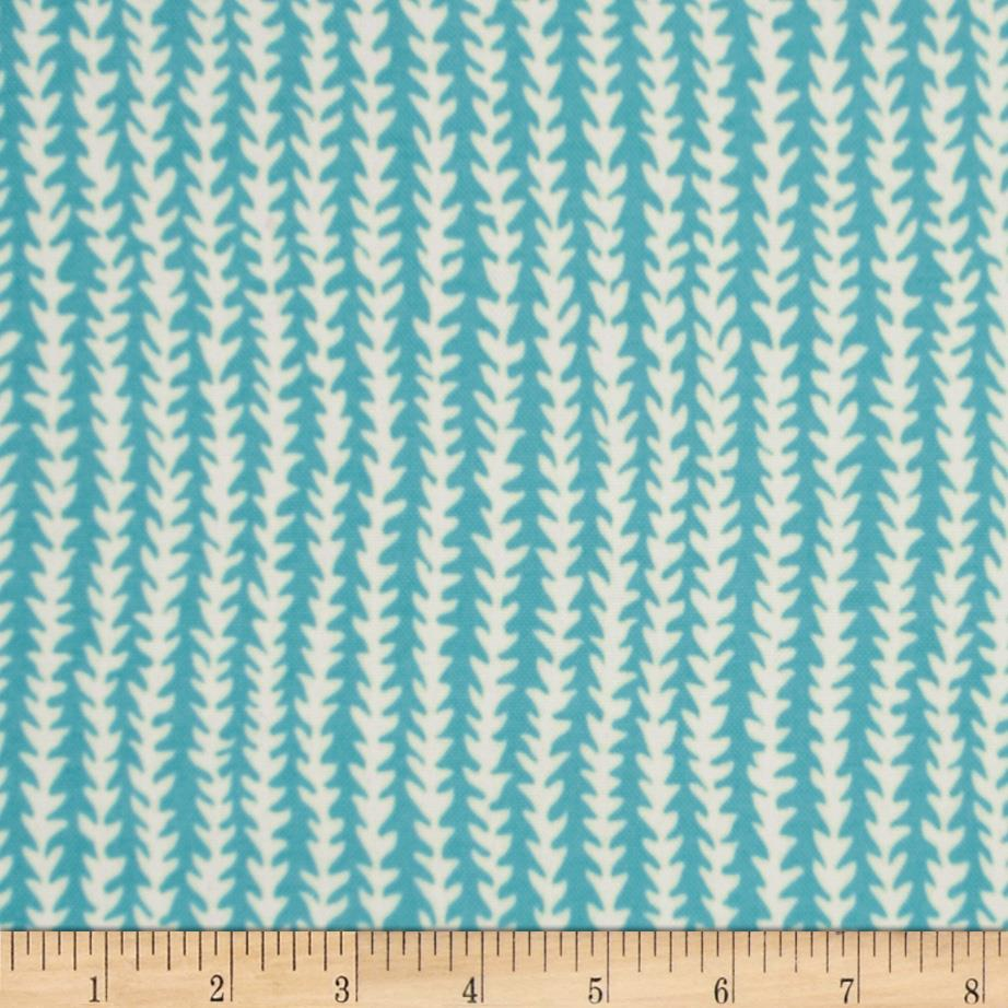 P Kaufmann Indoor/Outdoor Doodle Stripe Carolina Blue