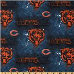 CK-220 NFL Cotton Broadcloth Chicago Bears Blue