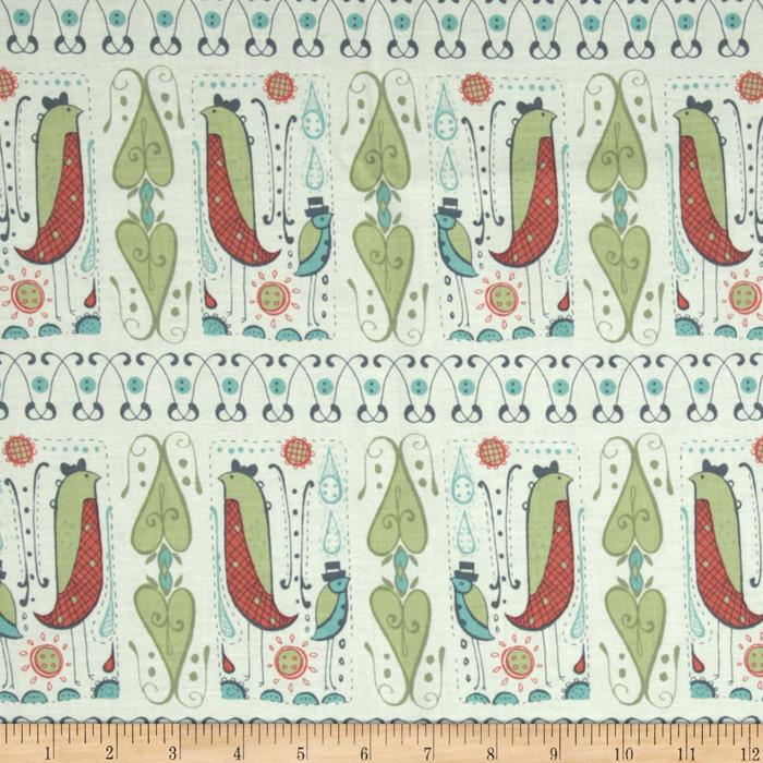 Feather N Stitch Duet Coral/Green