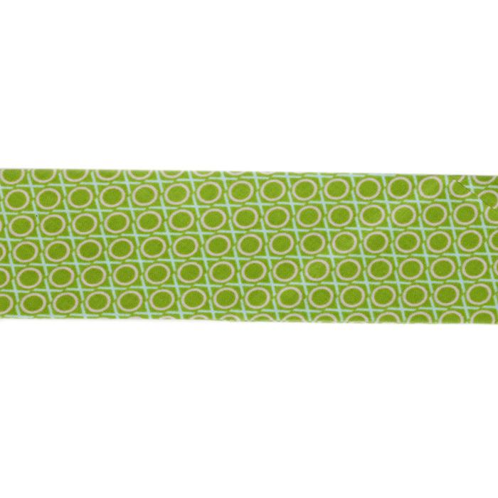 Anna Maria Horner LouLouThi Bias Binding 2-1/4'' Single Fold Hugs & Kisses Apple Green