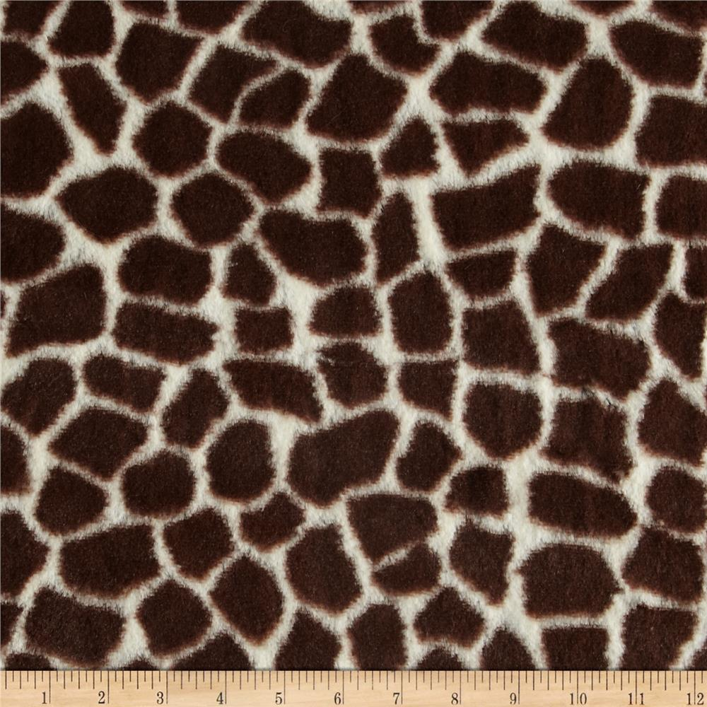 Minky Giraffe Brown/Cream
