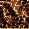 Charmeuse Satin Giraffe Rust
