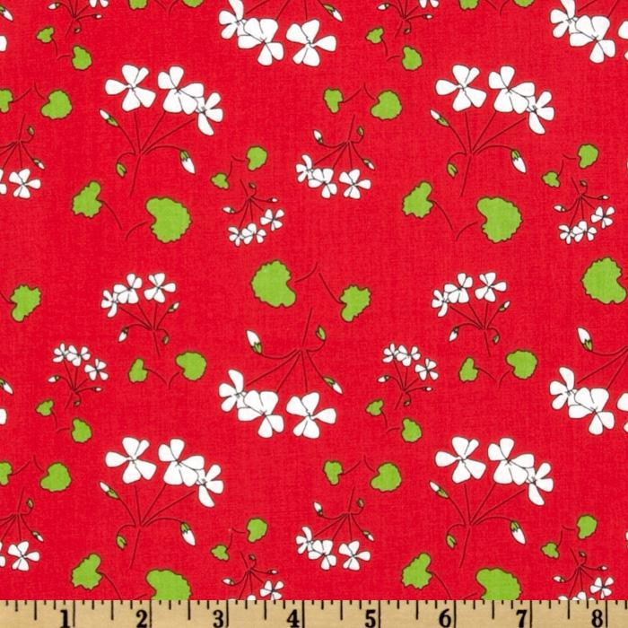The Red Thread Floral Red
