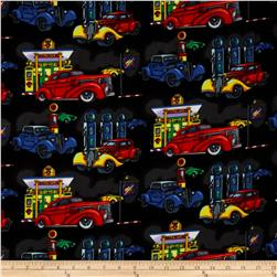 Flannel Antique Cars Black/Multi