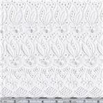CA-417 Fancy Eyelet White