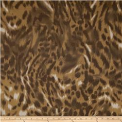 Printed Fleece Bobcat Brown