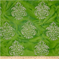 Indian Batik Arcadia Damask Bright Green
