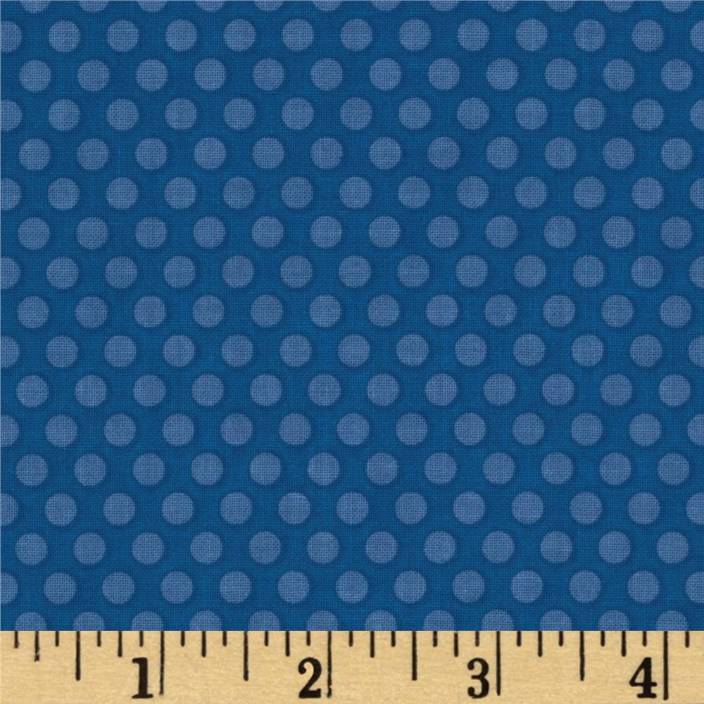Riley Blake Zoofari Organic Dots Blue