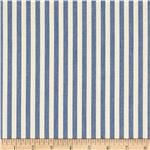 0286017 Benartex Home Patra Stripe Blue/Off White