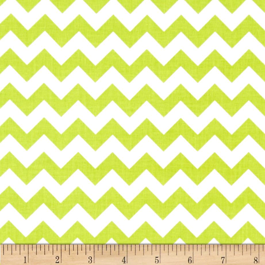"Riley Blake 58"" Manufactures Cut Small Chevron Lime"