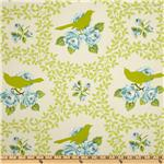 Heather Bailey Garden District Mockingbird Sateen Chartreuse