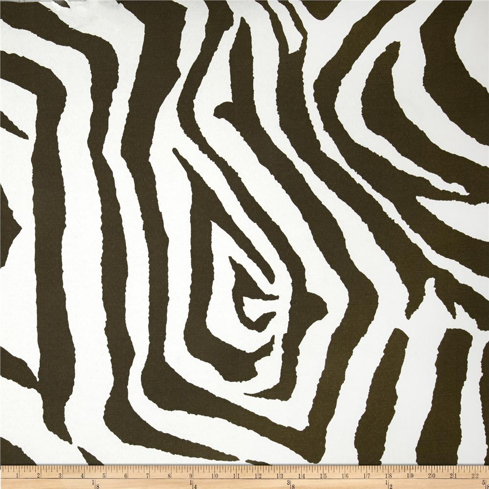 Premier Prints Indoor/Outdoor Zebra Brown