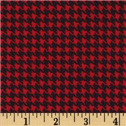 Great Scotts Flannel Houndstooth Red