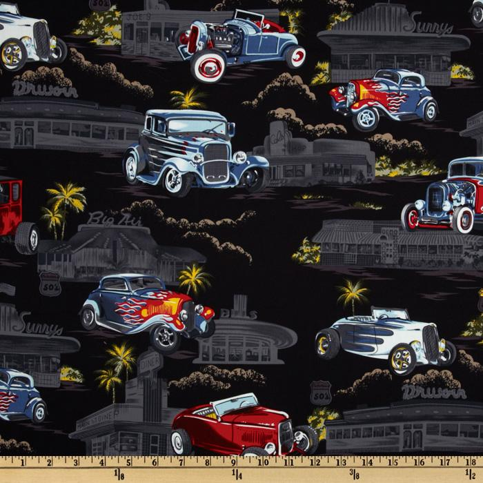 Tropicals and Conversationals Hot Rods Black