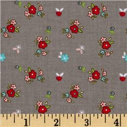 Riley Blake Little Red Riding Hood Little Floral Grey