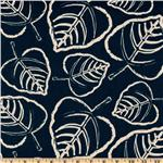 UF-664 Premier Prints Indoor/Outdoor Leaf Deep Blue