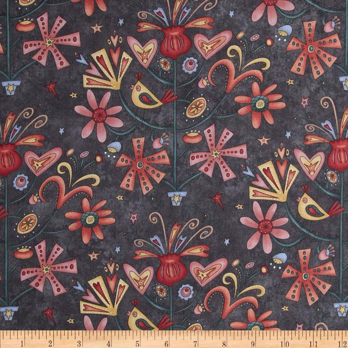 Wingin' It Floral Gray