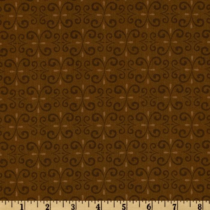 Jolly Christmas Damask Brown