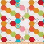 0270440 Michael Miller Textured Basics Hexies Multi