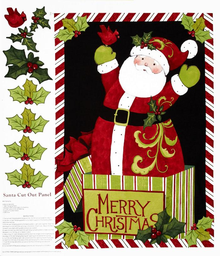 Santa Door Panel Red/Green
