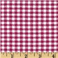 Aunt Polly's Flannel Gingham Purple/White