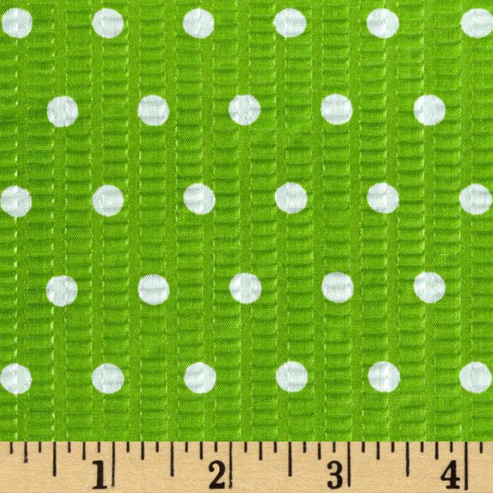 Tutti Frutti Plisse Polka Dot Green