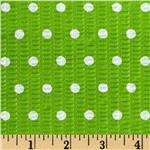 0275666 Tutti Frutti Plisse Polka Dot Green