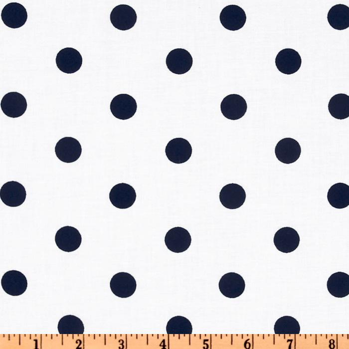Classic Dots & Stripes Large Dots White/Navy