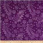 0269767 Indian Batik Feather Purple